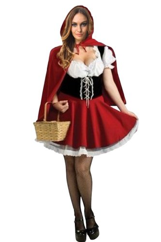 Amour- Sexy Little Riding Hood Storybook Woman Adult Costume Fancy Party Dress Halloween (M)