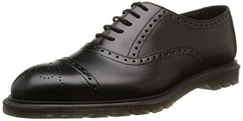 Dr. Martens Henley Morris Scarpe A Collo Alto, Uomo, Nero (Black Polished Smooth), 43