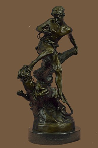 HandmadeEuropean-Bronze-Sculpture-Signed-Barye-Muscular-Man-Defends-Himself-Against-Lion1X-YRD-879Statues-Figurine-Figurines-Nude-Office-Home-Dcor-Collectibles-Deal-Gifts