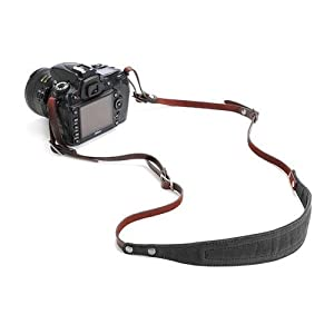 ONA The Lima Waxed Canvas and Leather Camera Strap, Black