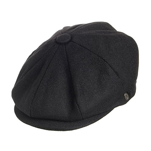 Jaxon Hats Harlem Newsboy Cap Black MEDIUM