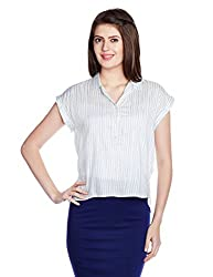 Chemistry Women's Bow Front Top (C16-022WTTOP_Handdrawn Stripe_X-Small)