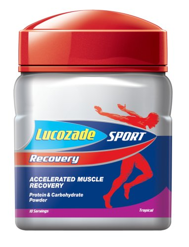Lucozade Sport Recovery Tropical 380g Tub 10 Servings