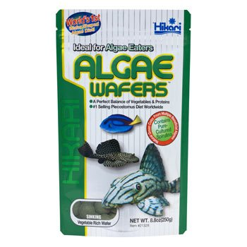 Hikari Tropical Algae Wafers for Bottom Feeding Herbivorous Fish, 8.8 oz.
