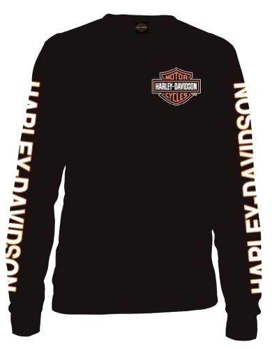 harley-davidson-mens-long-sleeve-orange-bar-shield-black-shirt-30291744-xl