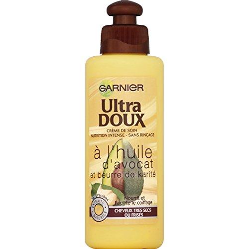 Garnier - Ultra Doux - Crème de soin nutrition intense sans rinçage, à l'huile d'avocat et beurre de karité, cheveux très secs ou frisés - Le flacon de 200ml - (pour la quantité plus que 1 nous vous remboursons le port supplémentaire)