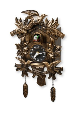 Meridian Point Old World Cuckoo Clock Birdhouse Design with Cuckoo Bird Chime