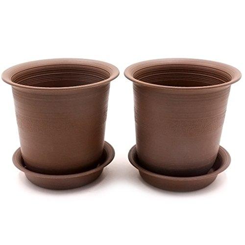 Epgardening Brown Porcelain-imitated Resin Plant Pot(5.5