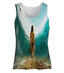 Snoogg She Makes Her Way Womens Tunic Casual Beach Fitness Vests Tank Tops Sleeveless T shirts