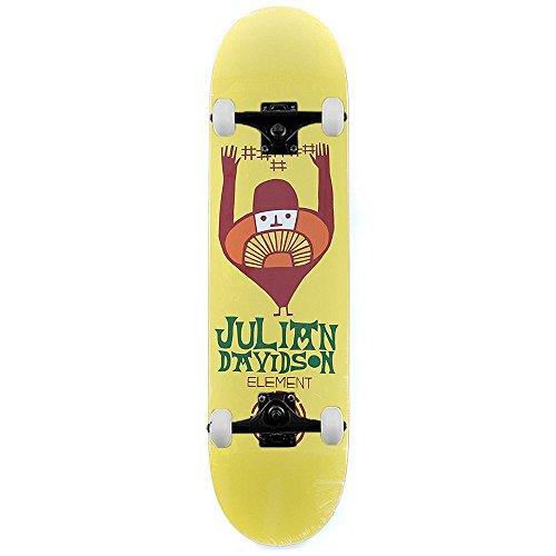 element-skateboards-julian-davidson-taldea-pro-komplett-skateboard-gelb-206-cm