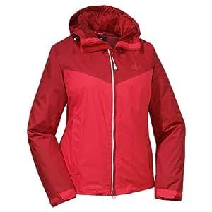 Jack Wolfskin Airrow Women's Weatherproof Jacket - Hibiscus Red, X-Small