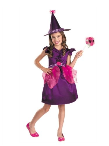 Disguise Girls Botanical Witch Costume with Dress & Hat