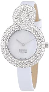 Esprit Collection Damen-Armbanduhr XS Danae White - Swiss Made Analog Quarz Leder EL101182S02