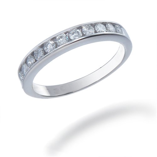 1/2 CT Diamond Wedding Band 14K White Gold (I1-I2 Clarity) (Available In Sizes J - T)