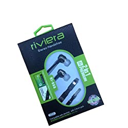 Riviera Stereo Handsfree 2 in 1 for all Mobile Phones & Tablets