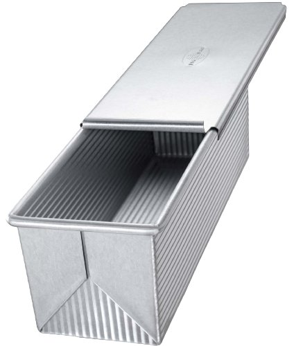 USA Pan Bakeware Aluminized Steel Pullman Loaf Pan with Cover, 9 x 4-Inch (Baking Pans With Covers compare prices)