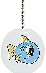 Carolina Hardware and Decor 2181F Baby Fish Big Eyes Ceramic Fan Pull