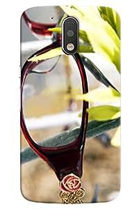 Omnam Eye Glass And Leaf Effect Printed Designer Back Cover Case For Motorola Moto G4