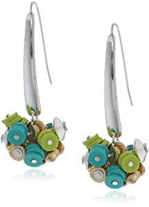 """Kenneth Cole New York """"Urban Citrus"""" Multi-Colored Bead Cluster Long Drop Earrings"""