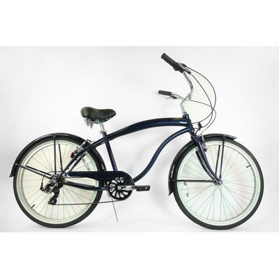 7-Speed Beach Cruiser Frame Color: Midnight Blue (Mens)