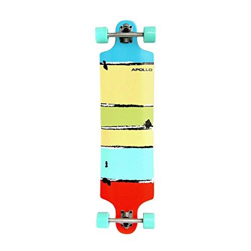 Apollo Longboard Maui / Papeete / Tonga, Komplettboards, Twin-Tip Drop-Through Freeride Skaten Cruiser Board