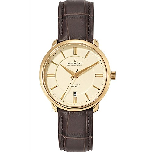 Dreyfuss and Co DGS00101-03 Mens Series 1925 Brown Leather Strap Watch