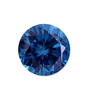 0.50 Carat Total Weight Round Blue Crystal SI1 Quality Loose Beautiful Diamond