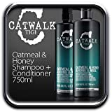 TIGI CATWALK OATMEAL & HONEY SHAMPOO + CONDITIONER 750ML TWEEN DUO