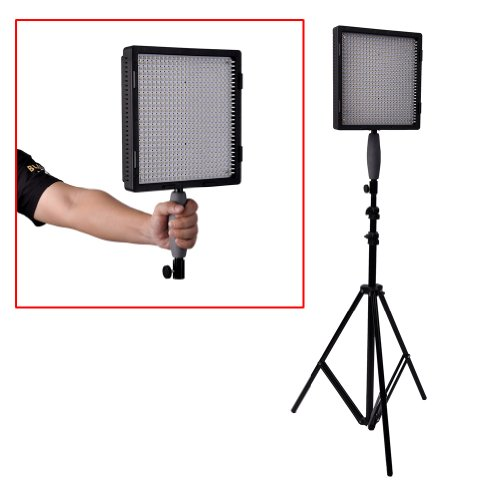 Neewer® Cn-576 576Pcs Led Dimmable Ultra High Power Panel Digital Camera / Camcorder Video Light With 3 Filters, Led Light 3200K To 5600K For Canon, Nikon, Pentax, Panasonic, Sony, Samsung And Olympus Digital Slr Cameras
