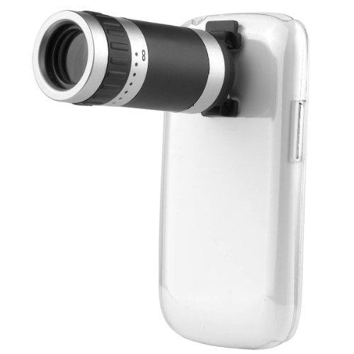 Xcsource® 8X Zoom Telescope Lens + Clear Case For Samsung Galaxy S3 Iii Mini I8190 Dc336