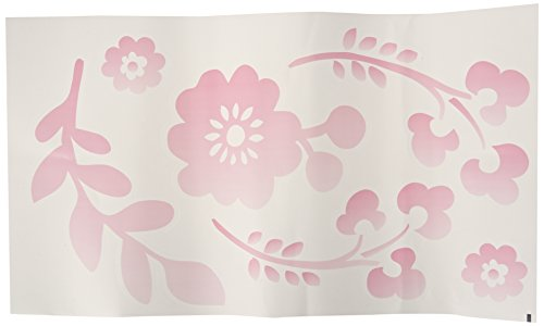 Lambs & Ivy Swan Lake Wall Appliques, Pink/White/Grey