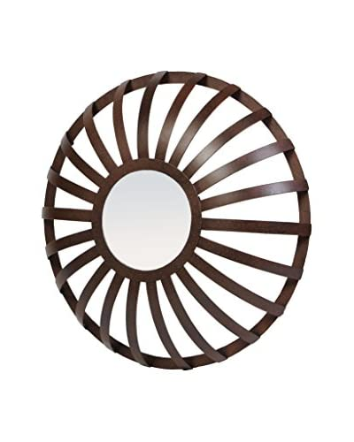 Prima Design Source Metal Strap Floating Mirror, Rust
