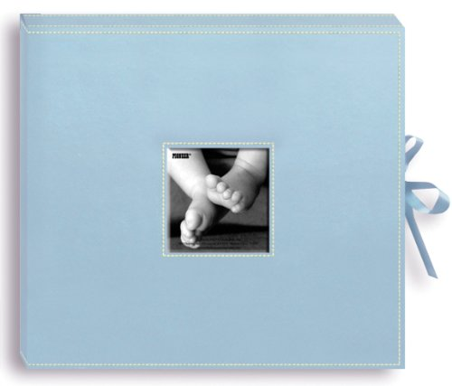 Alvin & Co. SBX12BB SCRAPBOOK BOX W/RIBBON BABYBLU 