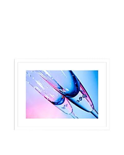 Champagne Glass Framed Artwork On Paper