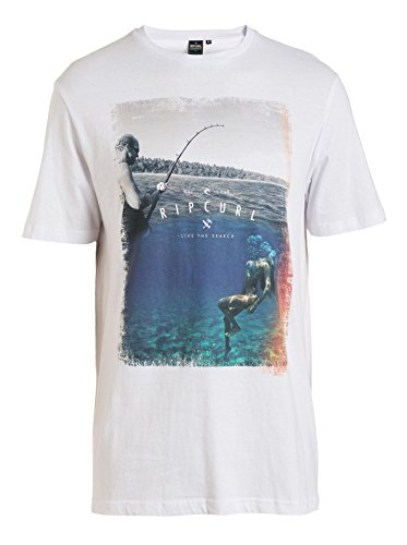 Rip Curl Good Day Bad Day Tee T-Shirt, Bianco/Stampa Mare, M