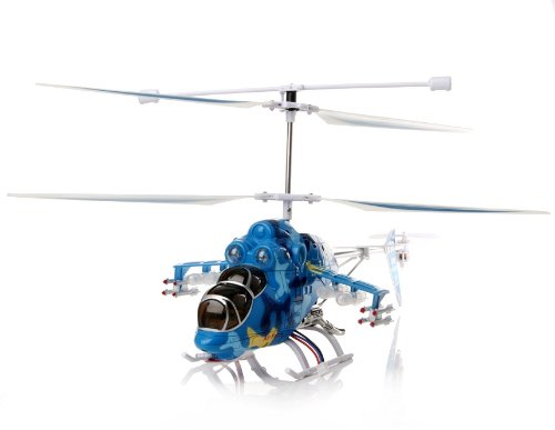 3-channel Alloy Remote Control Fighter Helicopter with Gyroscope (Blue)