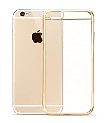 Kapa Electroplated Edge Ultra Thin TPU Flexible Back Case Cover for iPHone 6 6S - Gold