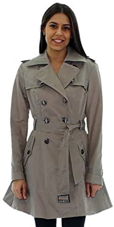 Jessica Simpson Women's Trench Coat Double Breasted Rain Jacket Gray Size L