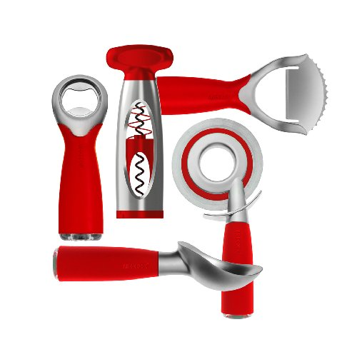 Art and Cook 5-Piece Zinc Positive Party Set, Red