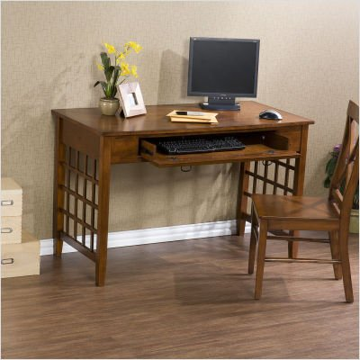 Buy Low Price Comfortable Southern Enterprises HO8881 SEI Lattice Brown Mahogany Computer Desk (B003WWL7DC)