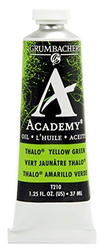 Grumbacher Academy Oil Paint, 37ml/1.25 Ounce, Thalo Yellow Green (T210)