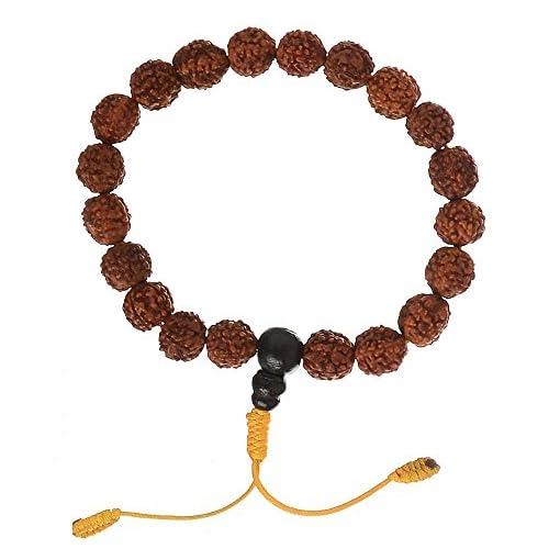 Hand-Mala-mit-Rudraksha-beads-Armband-buddhistische-Hand-Gebetskette-mit-10-mm-Perlen