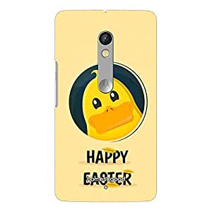 HomeSoGood Happy Easter Multicolor 3D Mobile Case For Moto X Play (Back Cover)