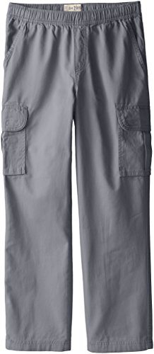 The Children's Place Big Boys' Pull-On Cargo Pant, Gray Steel, 10