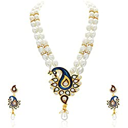 Sukkhi Astonishing Peacock Gold Plated Necklace Set For Women