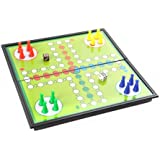 """10"""" x 10"""" Classic Ludo Game Set with Magnetic Folding Board (SC5626 US)"""