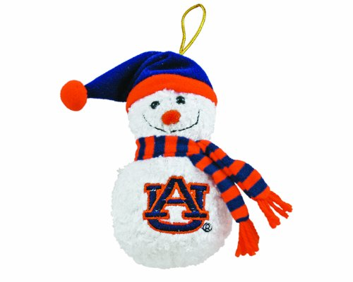 NCAA Auburn Tigers Plush Snowman Ornament at Amazon.com