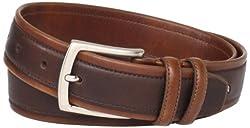 Nautica Men's Overlay Belt, Brown, Large