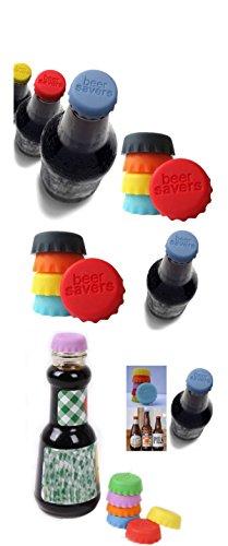 Rainbow-amor-silicona-fresco-condimento-botella-de-cerveza-tapa-beer-Saver-juego-de-100