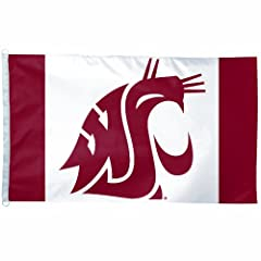 Buy NCAA Washington State Cougars 3-by-5 foot Flag by WinCraft